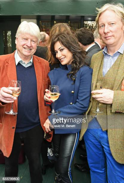 Stanley Johnson Nancy Dell'Olio and Ranald Macdonald attend Boisdale Life Magazine's inaugural 'Editors Lunch' at Boisdale Of Belgravia on February 1...