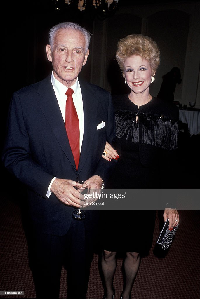 Stanley Kramer and wife during 1989 National Tribute Dinner Hosted By The Simon Weisenthal Center at Century Plaza Hotel in Century City, California, United States.