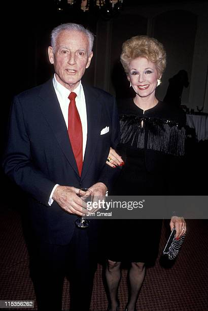 Stanley Kramer and wife during 1989 National Tribute Dinner Hosted By The Simon Weisenthal Center at Century Plaza Hotel in Century City California...