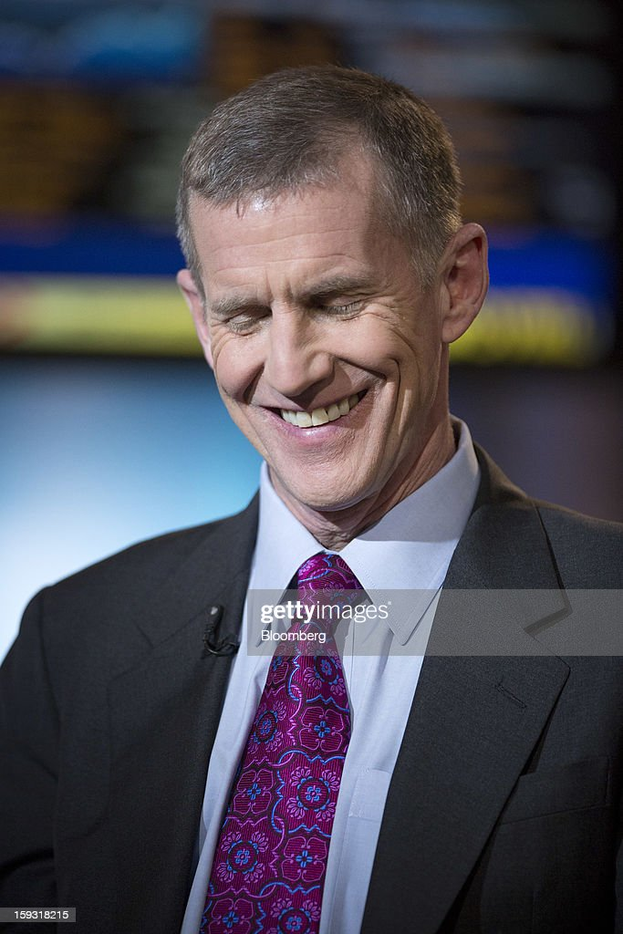 Stanley McChrystal, chairman of Siemens Government Technologies Inc., smiles before a Bloomberg Television interview in New York, U.S., on Friday, Jan. 11, 2013. McChrystal is the former commander of U.S. and NATO forces in Afghanistan and author of 'My Share of the Task: A Memoir.' Photographer: Scott Eells/Bloomberg via Getty Images