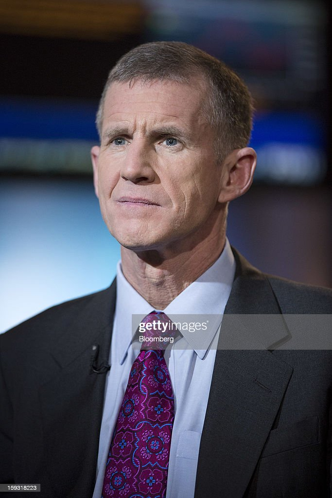 Stanley McChrystal, chairman of Siemens Government Technologies Inc., pauses before a Bloomberg Television interview in New York, U.S., on Friday, Jan. 11, 2013. McChrystal is the former commander of U.S. and NATO forces in Afghanistan and author of 'My Share of the Task: A Memoir.' Photographer: Scott Eells/Bloomberg via Getty Images