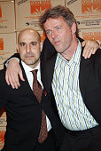 Stanley Tucci and Aidan Quinn during Food Bank for New York City CanDo 2005 Annual Awards Dinner Arrivals at Cipriani in New York City New York...