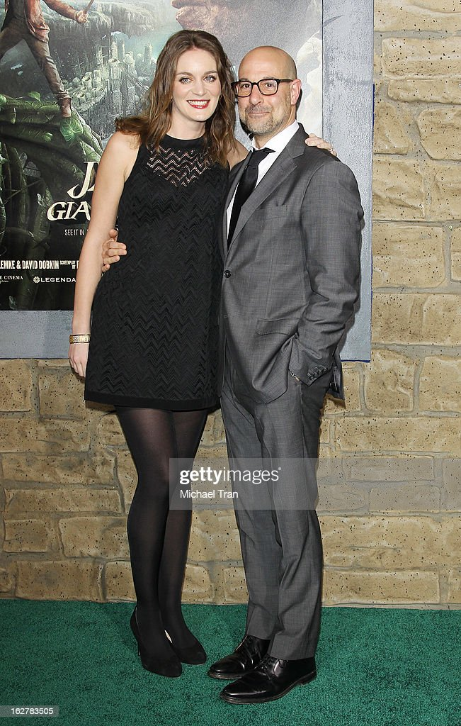 <a gi-track='captionPersonalityLinkClicked' href=/galleries/search?phrase=Stanley+Tucci&family=editorial&specificpeople=209366 ng-click='$event.stopPropagation()'>Stanley Tucci</a> (R) and Felicity Blunt arrive at the Los Angeles premiere of 'Jack The Giant Slayer' held at TCL Chinese Theatre on February 26, 2013 in Hollywood, California.