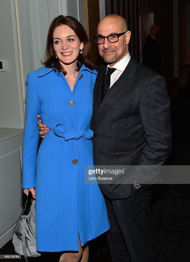 Stanley Tucci (R) and Felicity Blunt attend 'The Company You Keep' New York Premiere After Party at Harlow on April 1, 2013 in New York City.