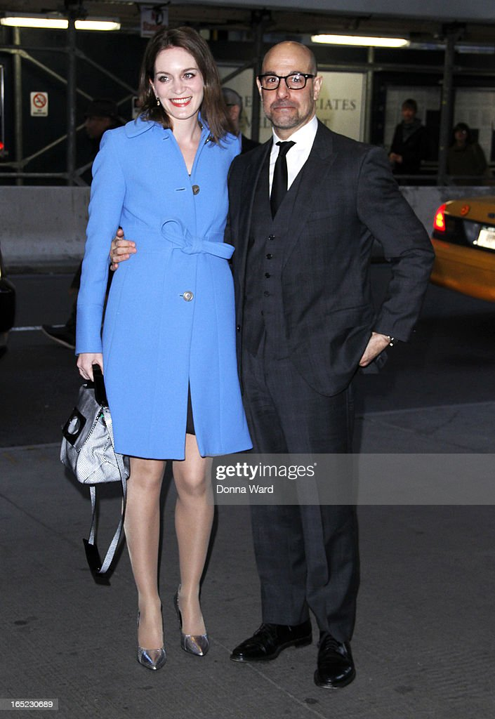 <a gi-track='captionPersonalityLinkClicked' href=/galleries/search?phrase=Stanley+Tucci&family=editorial&specificpeople=209366 ng-click='$event.stopPropagation()'>Stanley Tucci</a> and Felicity Blunt attend 'The Company You Keep' New York Premiere at The Museum of Modern Art on April 1, 2013 in New York City.