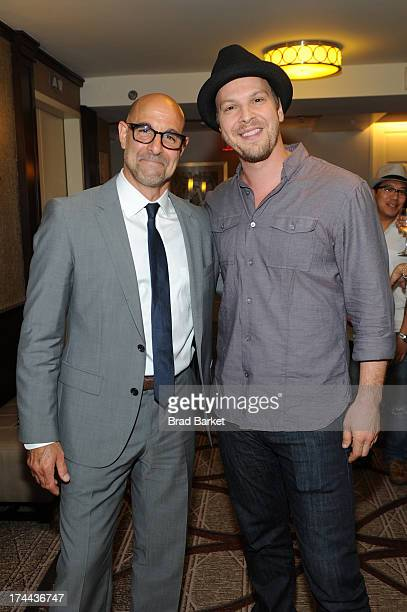 Stanley Tucci and Gavin DeGraw attend an exclusive Gavin DeGraw performance and Sheraton Social Hour for members at The Sheraton New York Times...