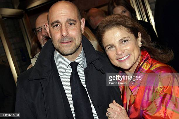 Stanley Tucci and Tovah Feldshuh during Billy Crystal Makes His Broadway Debut in '700 Sundays' at The Broadhurst Theater/Tavern on the Green in New...