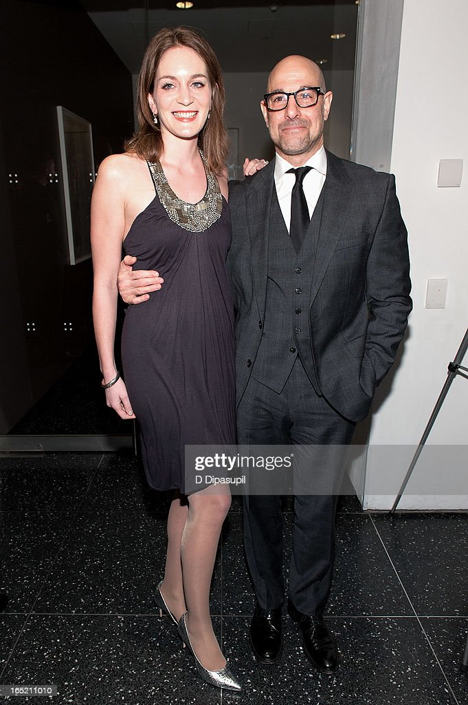 Stanley Tucci (R) and wife Felicity Blunt attend 'The Company You Keep' New York Premiere at The Museum of Modern Art on April 1, 2013 in New York City.