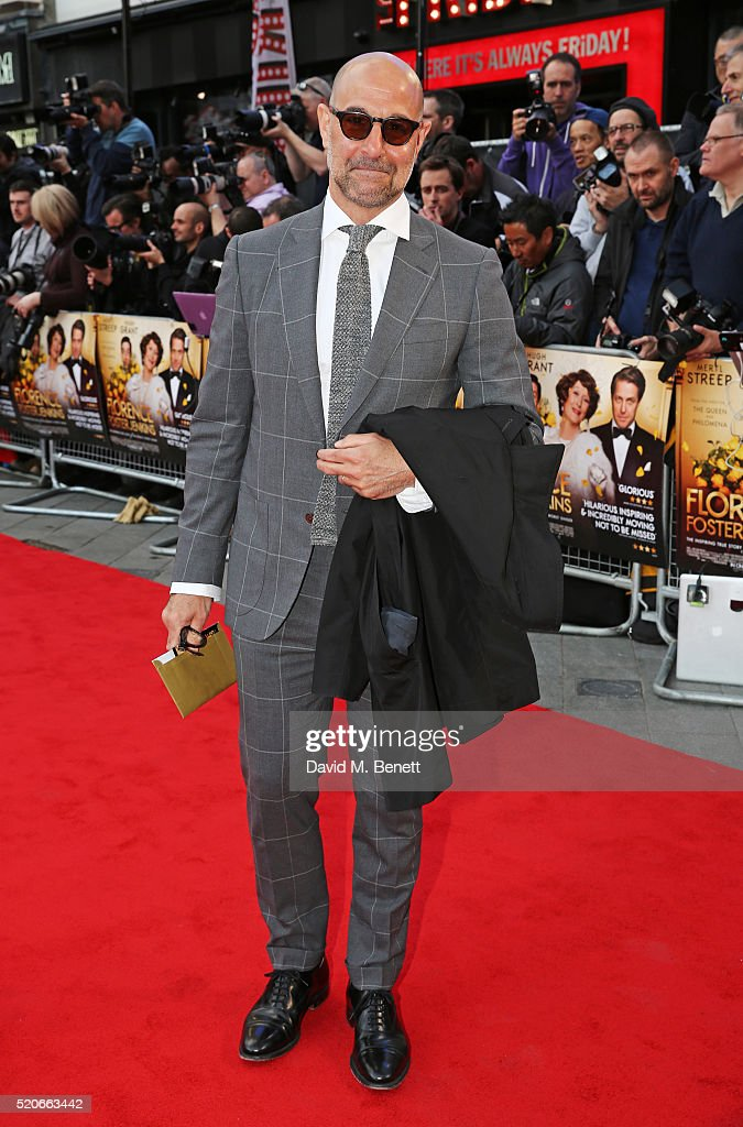 Stanley Tucci arrives for the UK film premiere Of 'Florence Foster Jenkins' at Odeon Leicester Square on April 12, 2016 in London, England.