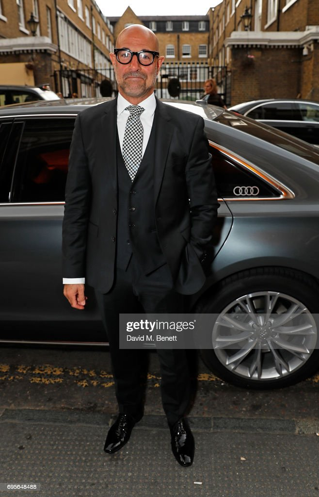 Stanley Tucci arrives in an Audi at the Summer Party 199 for The Old Vic on June 13, 2017 in London, England.