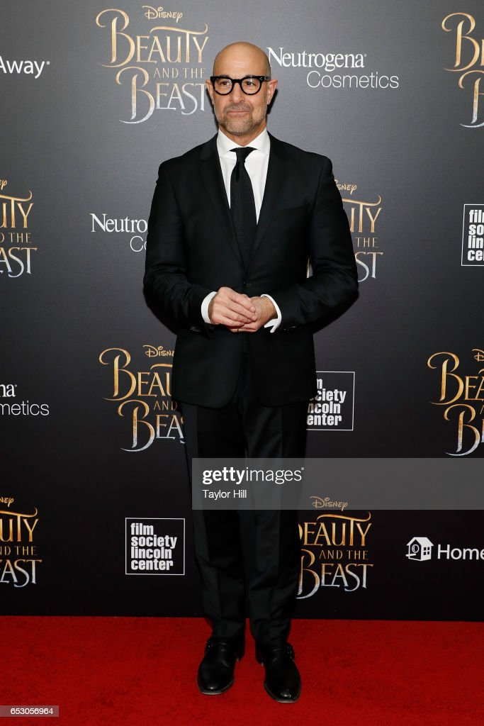 Stanley Tucci attends the 'Beauty and the Beast' New York screening at Alice Tully Hall, Lincoln Center on March 13, 2017 in New York City.
