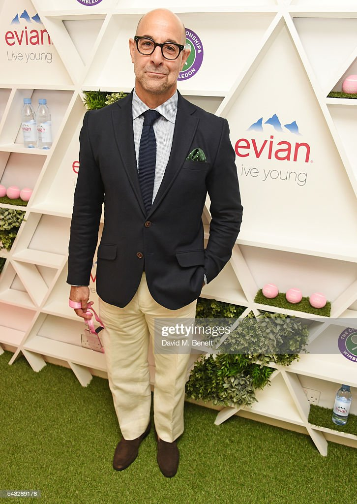 <a gi-track='captionPersonalityLinkClicked' href=/galleries/search?phrase=Stanley+Tucci&family=editorial&specificpeople=209366 ng-click='$event.stopPropagation()'>Stanley Tucci</a> attends the evian Live Young suite during Wimbledon 2016 at the All England Tennis and Croquet Club on June 27, 2016 in London, England.