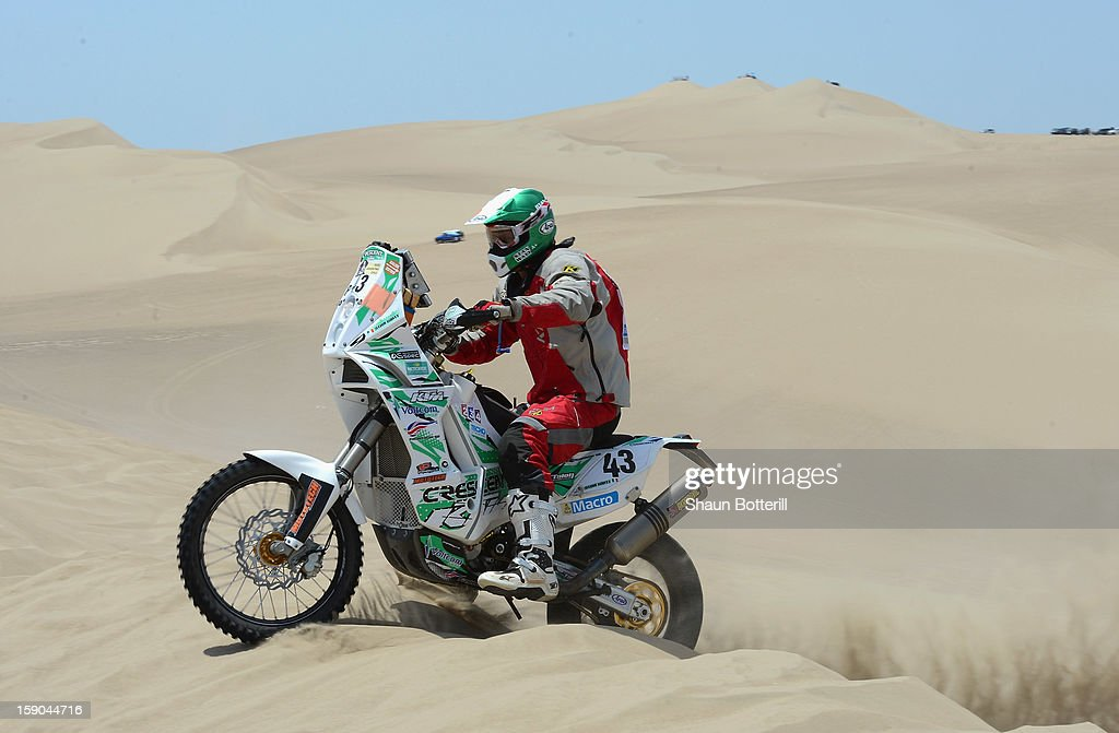 Stanley Watt of Team Front Row GB competes in the special stage on day one of the of the 2013 Dakar Rally on January 5, 2013 in Pisco, Peru.