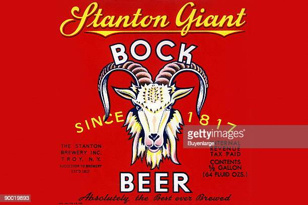 Stanton Giant Bock Beer was brewed by the Stanton Brewery Troy New York As always bock beer is signified by the obligatory goat's head