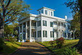 built in 1857, the stanton hall mansion is one of the largest greek revival style mansions in natchez, mississippi.