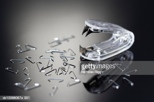Staple remover with staples, studio shot