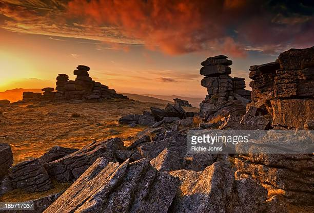 Staple Tor sunset on Dartmoor