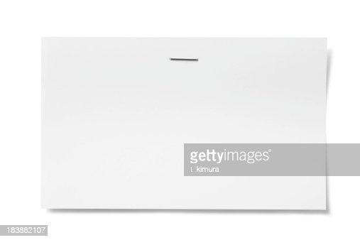 Stapled card