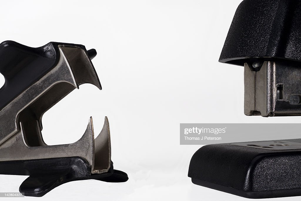 Stapler and staple remover : Stock Photo