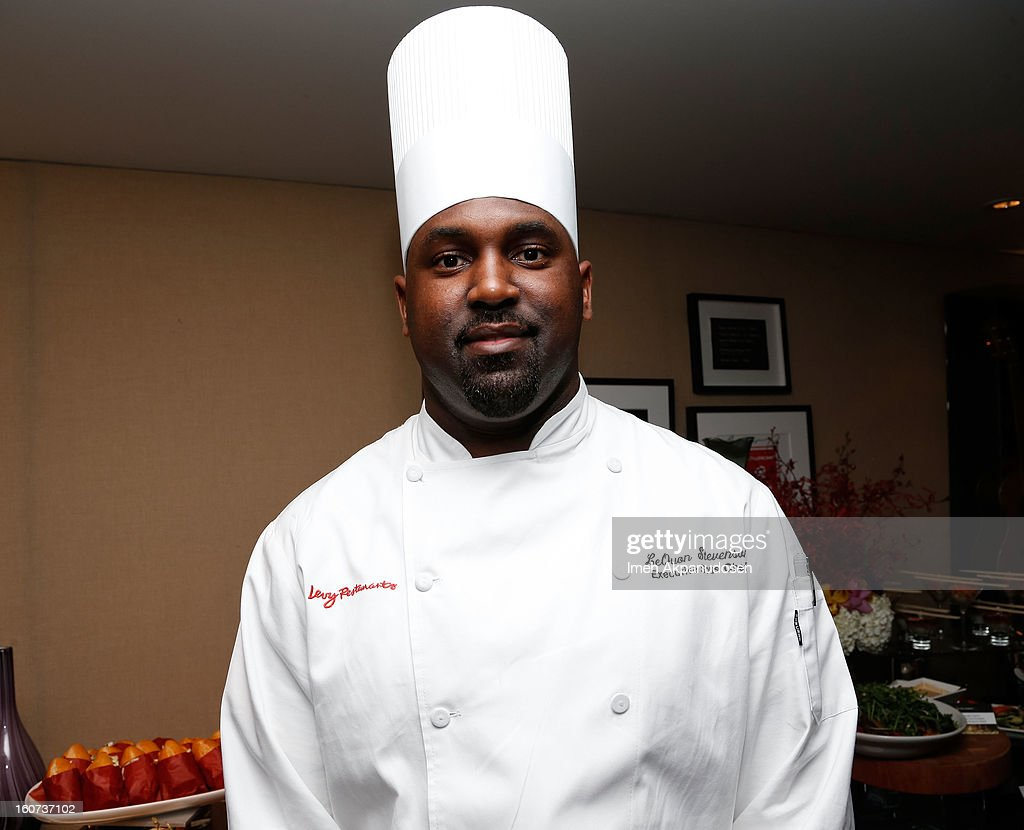 Staples Center Executive Sous Chef LeQuon Stevenson attends a behind the scenes kitchen tour and suite menu tasting for the 55th Annual GRAMMY Awards at Staples Center on February 4, 2013 in Los Angeles, California.