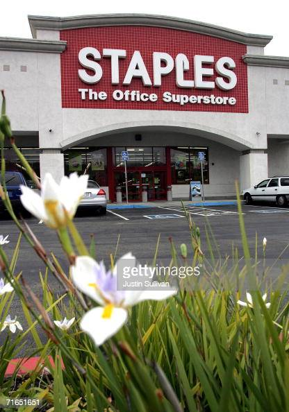 Staples office supply store is seen August 15 2006 in Novato California Staples Inc reported a 19 percent increase in secondquarter profits with a...