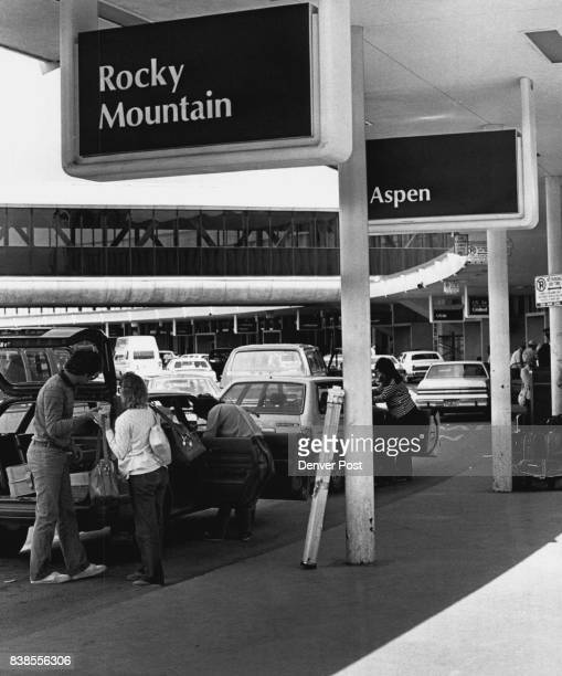 Stapleton airport checking the health of Denver regional airlines here we have a shot of people unloading at the Aspen and Rocky Mountain Credit The...