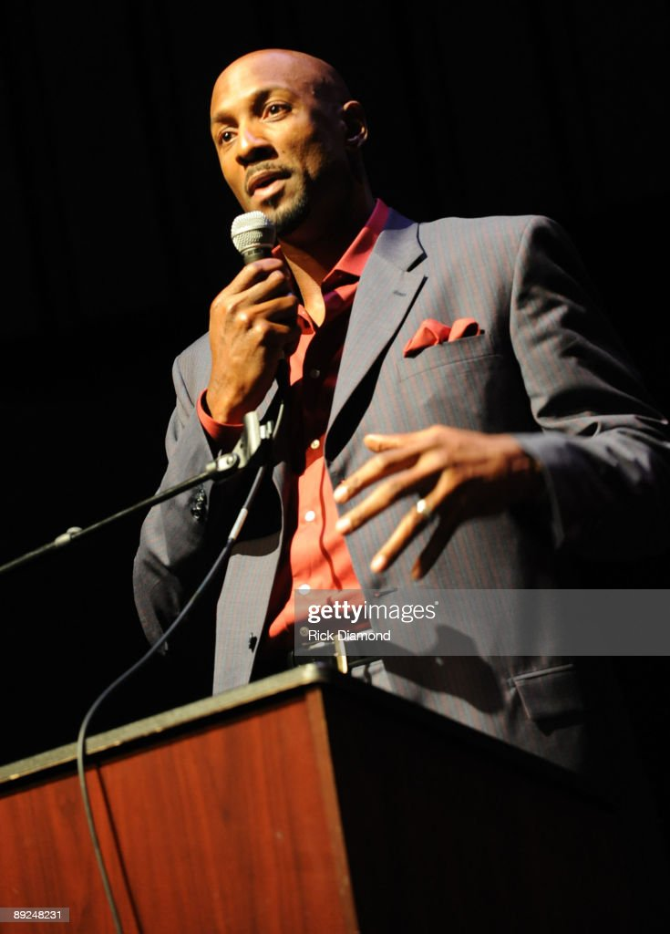 Star Alonzo Mourning at the closing ceremony for Usher's Camp New Look at the Alliance Theater at the Woodruff Arts Center on July 24, 2009 in Atlanta, Georgia.