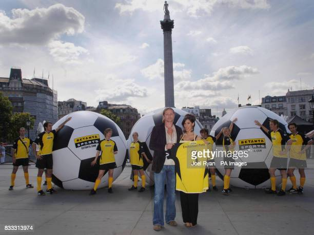Star analyst for Setanta's Premier League coverage Emmanuel Petit and star of Setanta's latest TV ad campaign Thaila Zucci launches their debut...