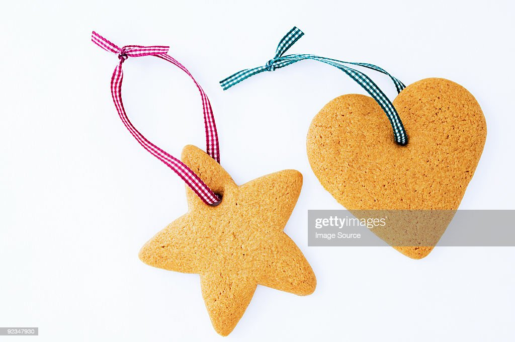 Star and heart shaped cookies