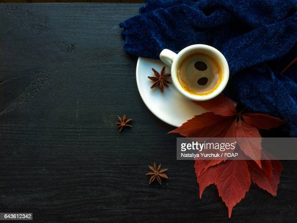 Star anise and black coffee