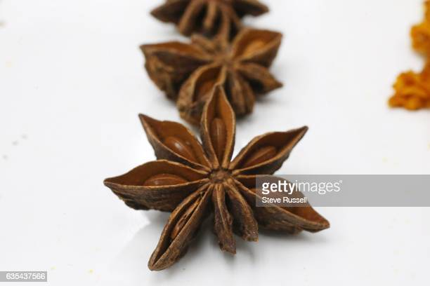TORONTO ON FEBRUARY 7 Star anise Ingredients for blending your own tea include lavender rose leaves orange camomile star anise and turmeric
