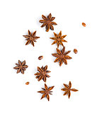 Photo of star anise on white background