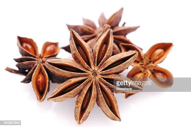 Star anise on white