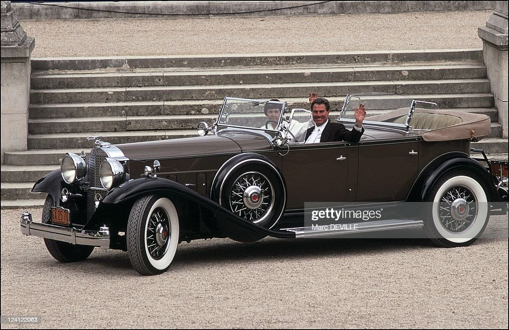 Star cars shown in Bagatelle in Paris, France on September 08, 1991 - Packard 903 Deluxe Eight of Jean Harlow.