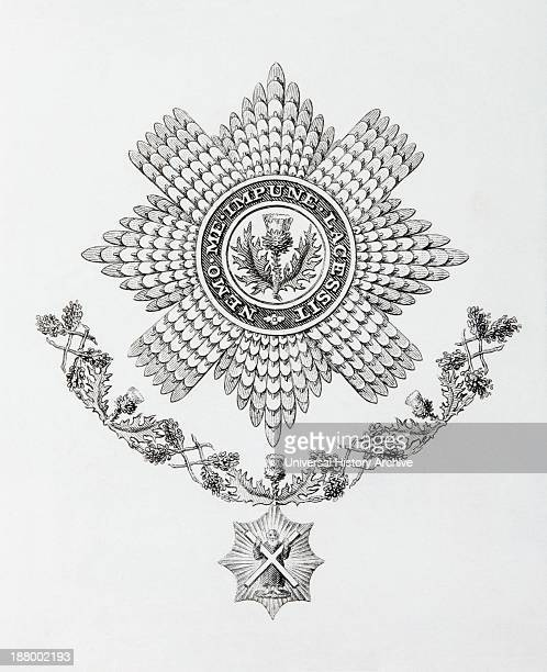 Star Collar And Badge Of The Order Of The Thistle From The Cyclopaedia Or Universal Dictionary Of Arts Sciences And Literature By Abraham Rees...