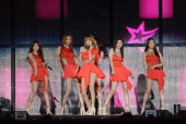 POP star Dal Shabet perform on stage during the KPOP festival on September 28 2013 in Wonju South Korea KPOP Festival in Gangwon 2013 is a cover...