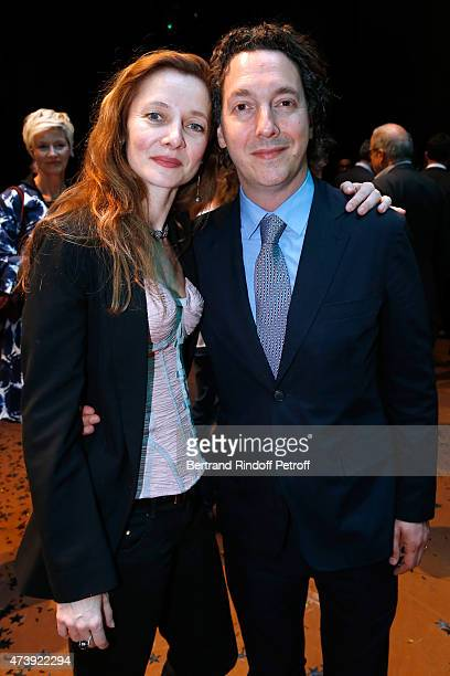 Star Dancer Agnes Letestu and Actor Guillaume Gallienne attend Star Dancer Aurelie Dupont says goodbye to the Paris Opera performing in 'L'histoire...