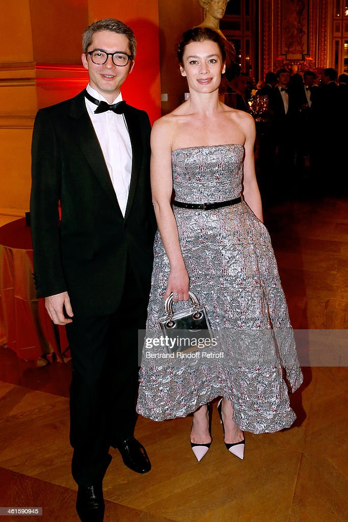 Star Dancer Aurelie Dupont (R) and Guest attend Arop Charity Gala with 'Ballet du Theatre Bolchoi'. Held at Opera Garnier on January 9, 2014 in Paris, France.
