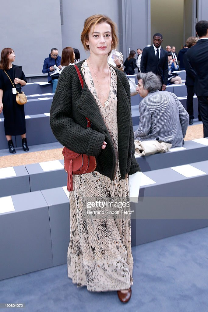 Star Dancer <a gi-track='captionPersonalityLinkClicked' href=/galleries/search?phrase=Aurelie+Dupont&family=editorial&specificpeople=2903830 ng-click='$event.stopPropagation()'>Aurelie Dupont</a> attends the Chloe show as part of the Paris Fashion Week Womenswear Spring/Summer 2016. Held at Grand Palais on October 1, 2015 in Paris, France.
