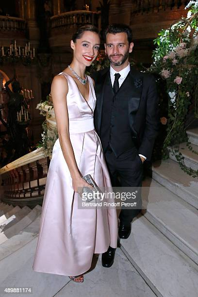 Star Dancer Dorothee Gilbert wearing Piaget and her husband attend the Ballet National de Paris Opening Season Gala at Opera Garnier on September 24...