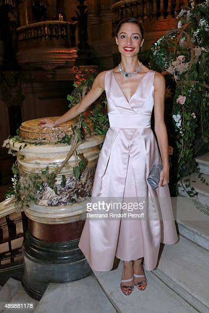 Star Dancer Dorothee Gilbert wearing Piaget attends the Ballet National de Paris Opening Season Gala at Opera Garnier on September 24 2015 in Paris...