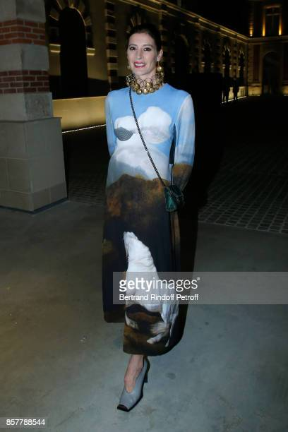 Star Dancer MarieAgnes Gillot attends the 'Diner Surrealiste' to celebrate the 241th birthday of 'Maison Louis Roederer' on October 4 2017 in Reims...