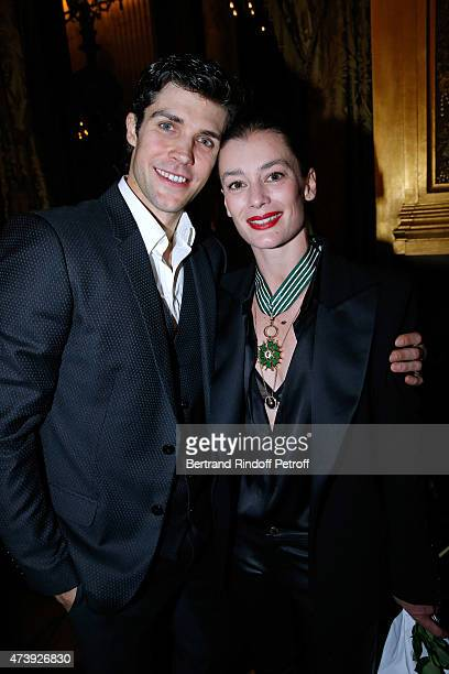 Star Dancer Roberto Bolle and Star Dancer Aurelie Dupont who receives the medal of Commander of Arts and Letters after she said goodbye to the Paris...