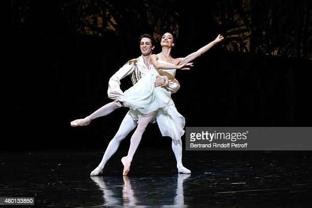 Star Dancers Mathieu Ganio and Dorothee Gilbert perform in the Ballet 'Casse Noisette' during the Matinee 'Reve d'enfants' with Ballet 'Casse...