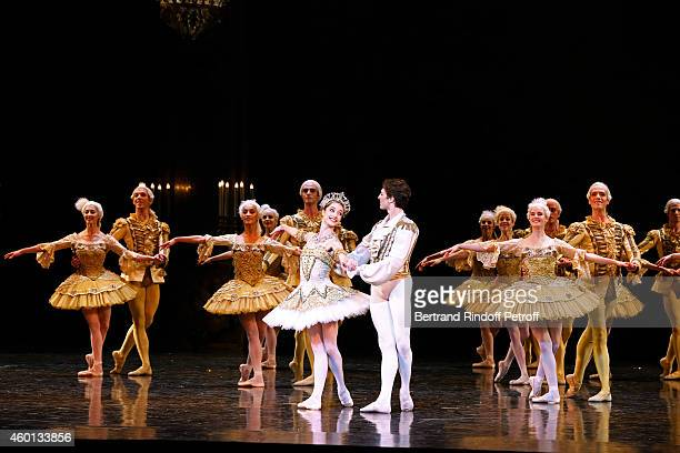 Star Dancers Mathieu Ganio and Dorothee Gilbert perform with the troup in the Ballet 'Casse Noisette' during the Matinee 'Reve d'enfants' with Ballet...