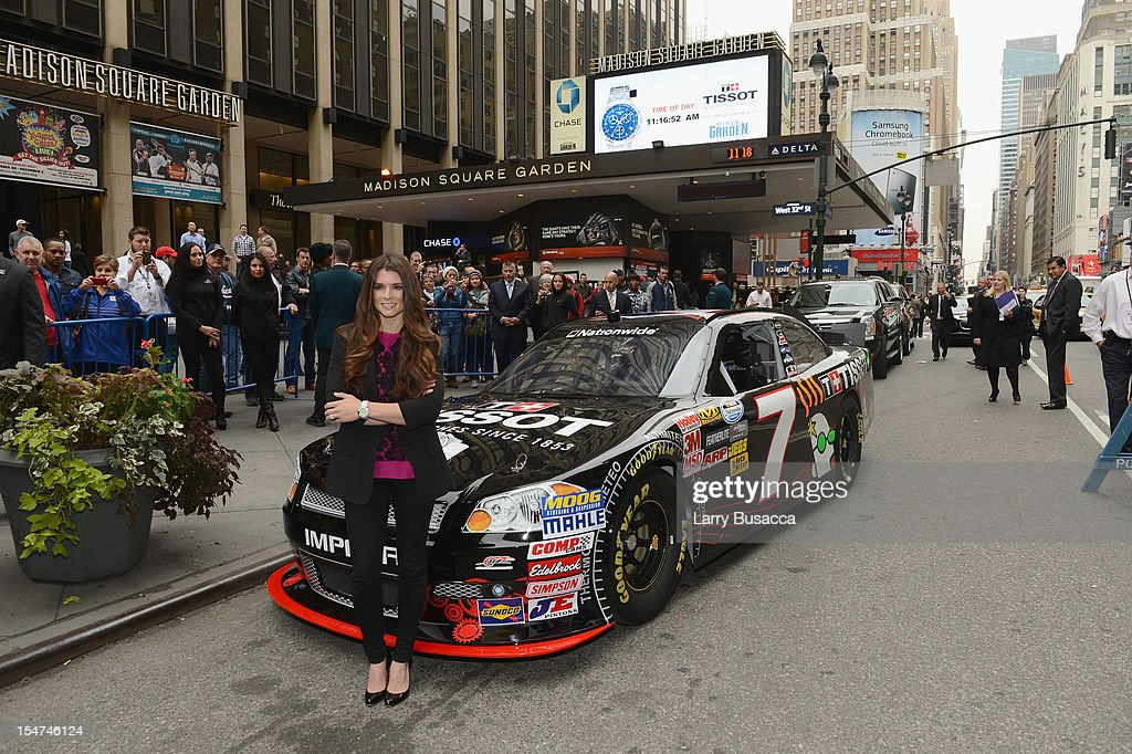 Star <a gi-track='captionPersonalityLinkClicked' href=/galleries/search?phrase=Danica+Patrick&family=editorial&specificpeople=183352 ng-click='$event.stopPropagation()'>Danica Patrick</a> join Tissot Swiss Watches To Unveil The Brand's New Lobby Clocks on October 25, 2012 in New York City.