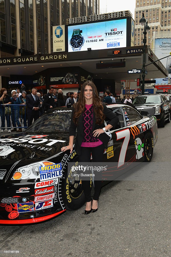 Star Danica Patrick join Tissot Swiss Watches To Unveil The Brand's New Lobby Clocks on October 25, 2012 in New York City.