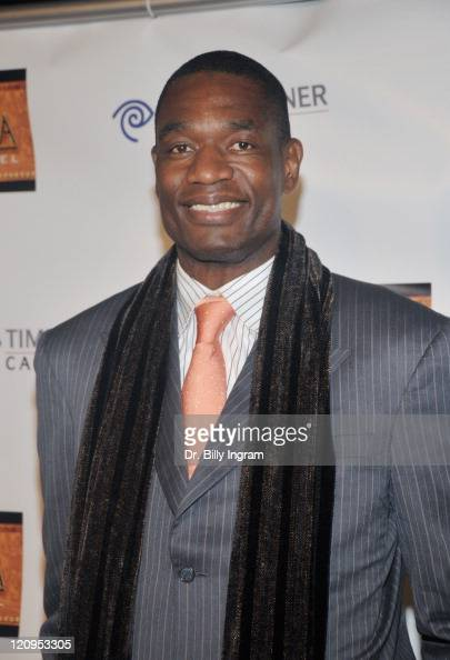 NBA star Dikembe Mutombo arrives at the Africa channel celebration of it's launch in Los Angeles on Time Warner cable channel 176 at the California...