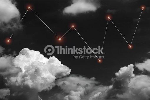 points toiles et ligne graphique sur fond de ciel noir et blanc photo thinkstock. Black Bedroom Furniture Sets. Home Design Ideas