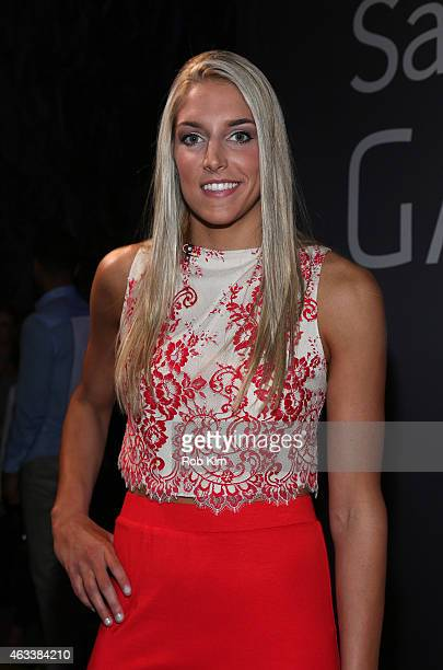 WNBA star Elena Delle Donne attends the NBA AllStar AllStyle presented by Samsung Galaxy the firstever NBA fashion show executive produced by LeBron...